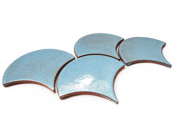 Large Moroccan Fish Scales - 12R Blue Bell