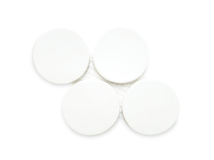 Large Penny Rounds Tile Sample - 11 Deco White