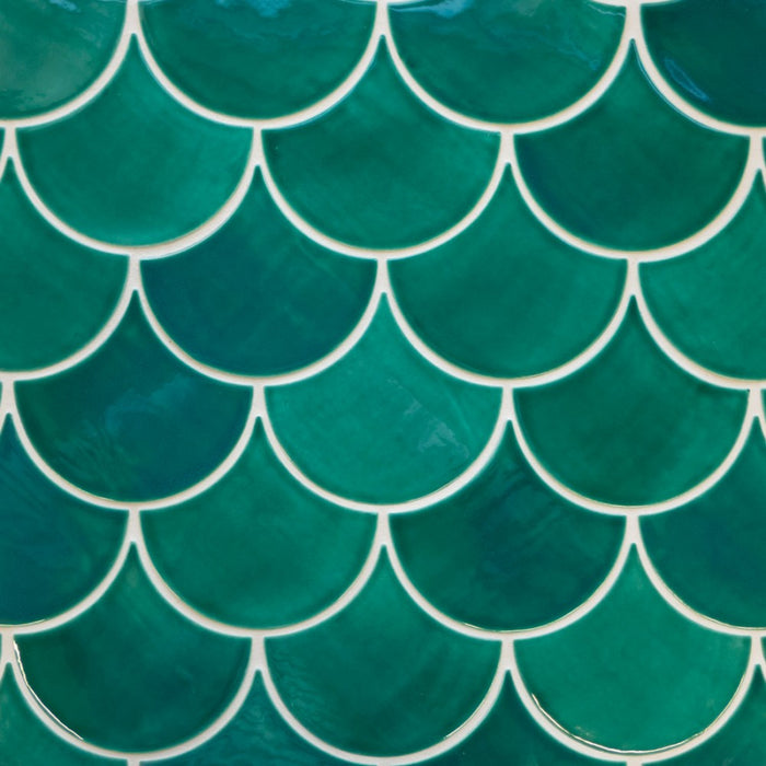 Large Moroccan Fish Scales Sea Mist