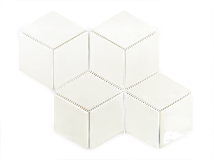 Medium Diamond Tile - Deco White