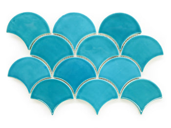 Medium Moroccan Fish Scales - 1015E Caribbean Blue
