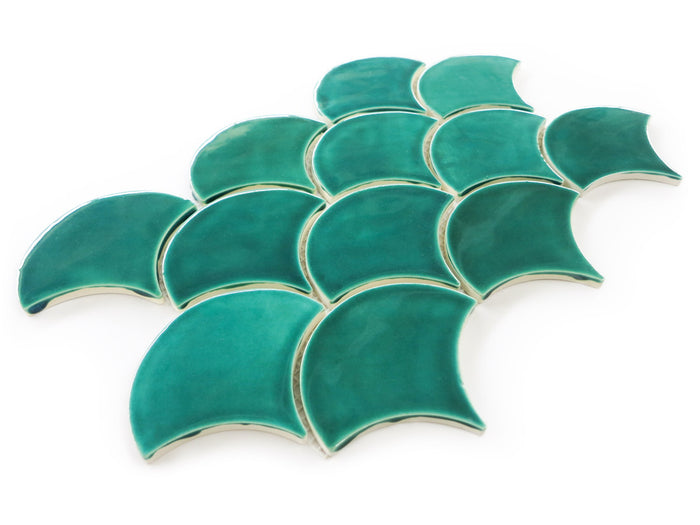 Medium Moroccan Fish Scales - 1017E Sea Mist