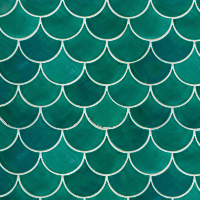 Medium Moroccan Fish Scales Sea Mist