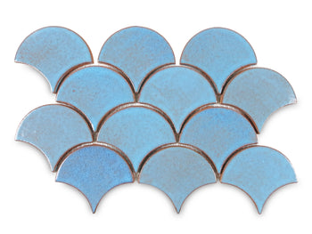 Medium Moroccan Fish Scales - 12R Blue Bell