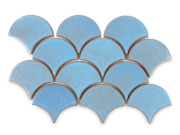 Medium Moroccan Fish Scales 12R Blue Bell