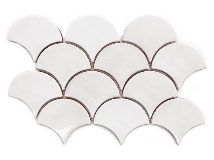 Medium Moroccan Fish Scales - 130 White