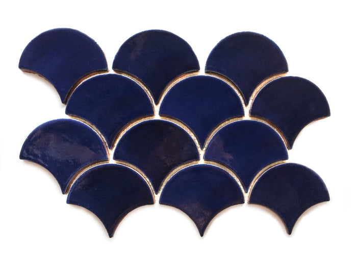 Medium Moroccan Fish Scales - 21R Cobalt