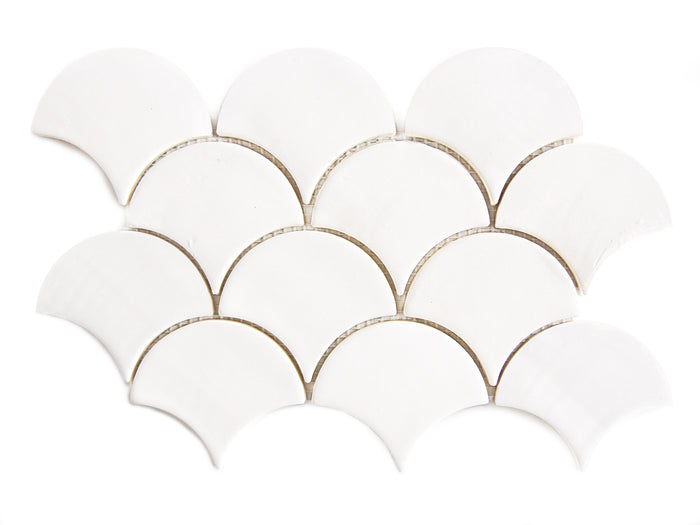 Medium Moroccan Fish Scales - 301 Marshmallow