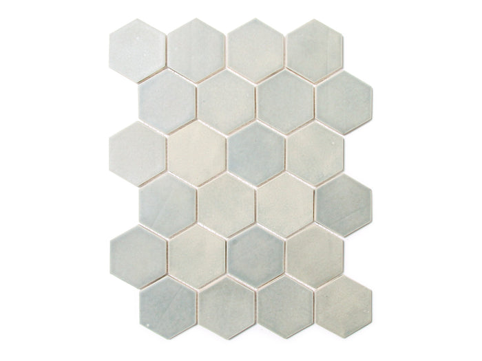 Regular Hexagon - 22E Blue Opal