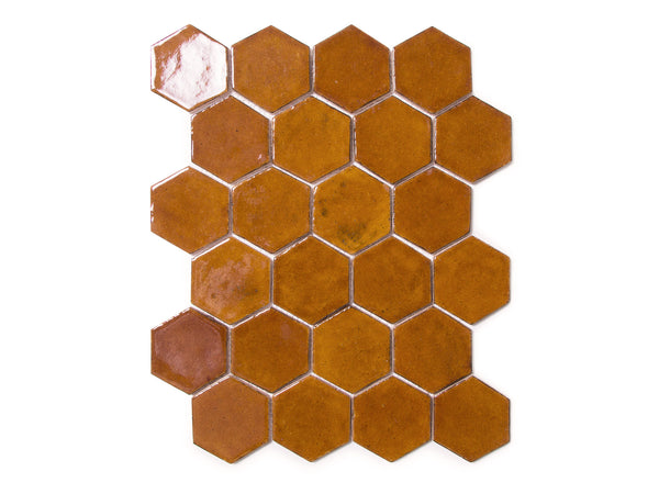 Regular Hexagon - Amber