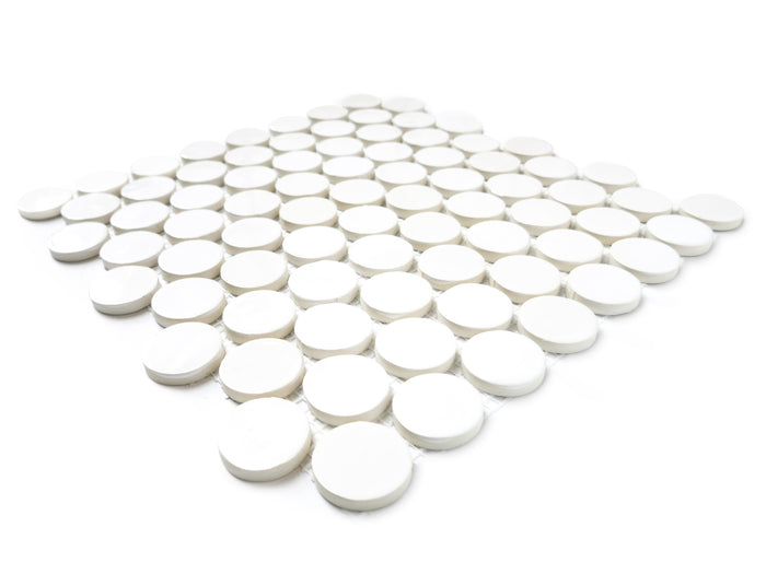 Penny Rounds Tile Sheet - 11 Deco White