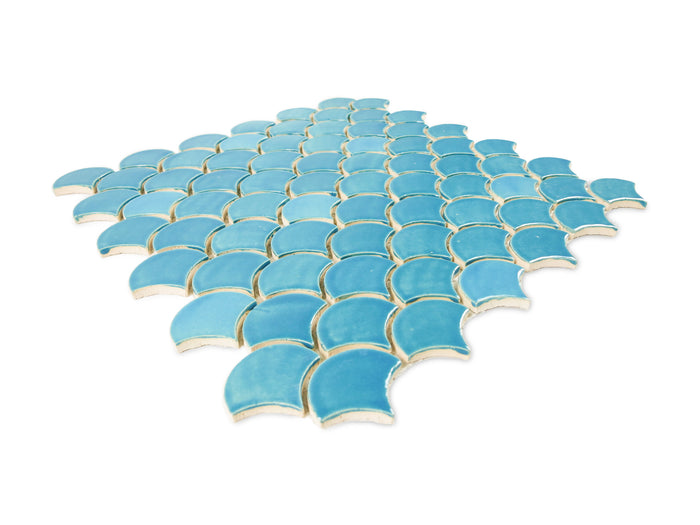 Small Moroccan Fish Scales - 1015W Caribbean Blue