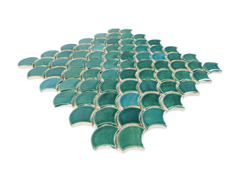 Small Moroccan Fish Scales - 1017W Sea Mist
