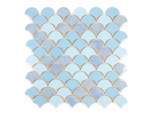 Small Moroccan Fish Scales - Light Blues