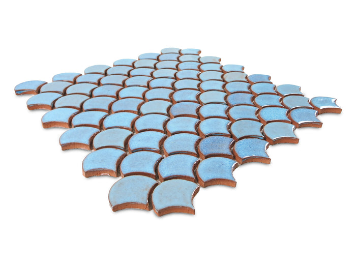 Small Moroccan Fish Scales - 12R Blue Bell