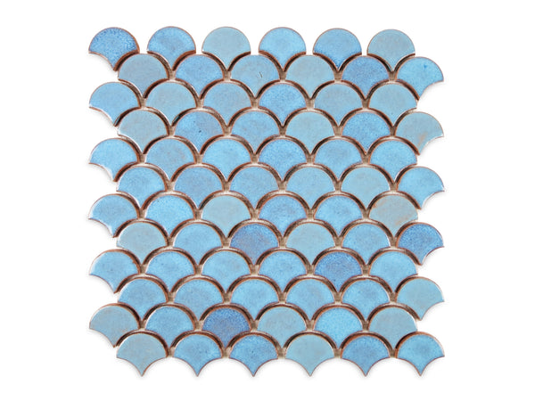 Small Moroccan Fish Scales 12R Blue Bell