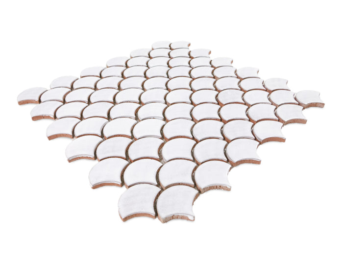 Small Moroccan Fish Scales - 130 White