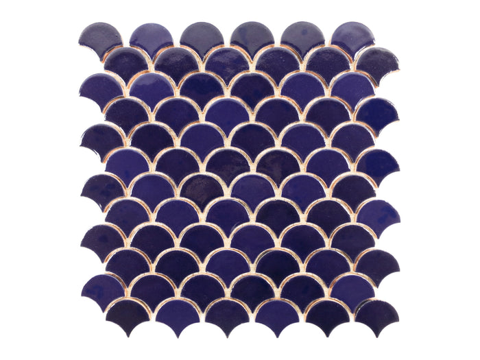 Small Moroccan Fish Scales - 21R Cobalt