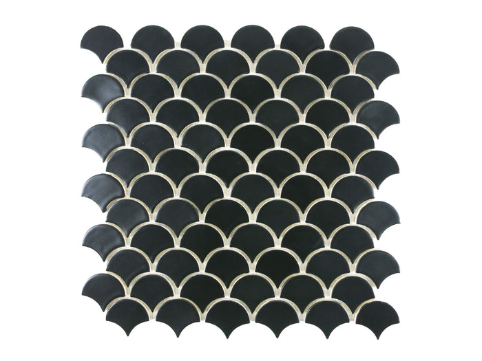 Small Moroccan Fish Scales - 366 Satin Black