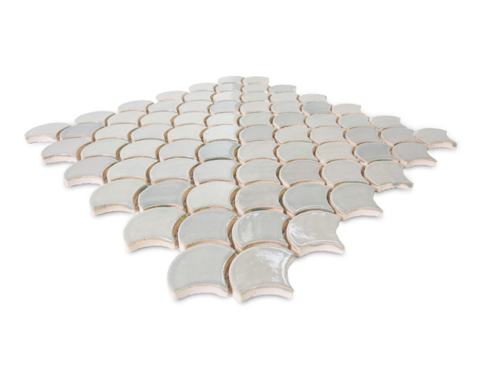 Small Moroccan Fish Scales - 815W Light Grey
