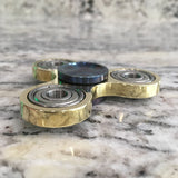Two-of-a-kind Brass Tri-beam with Heat Treated Stainless Steel Caps