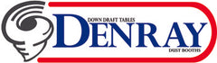 Denray Machine logo - down draft booths and dust tables