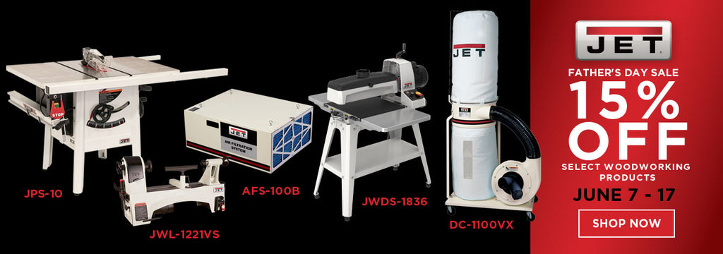 15% off select Jet Woodworking Machines