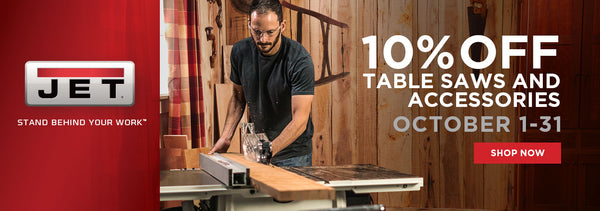 10% off Jet Table Saws