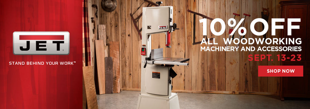 Jet 10% off All Woodworking