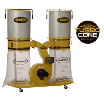 Powermatic PM1900TX-CK1 Dust Collector, 3HP 1PH 230V, 2-Micron Canister Kit