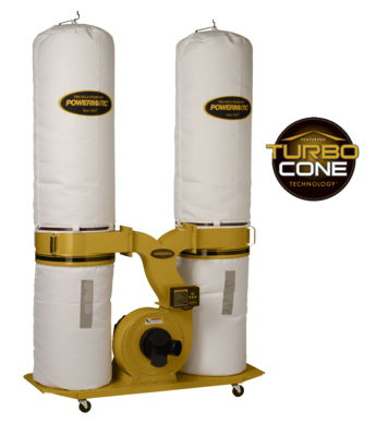 Powermatic PM1900TX-BK3 Dust Collector, 3HP 3PH 230/460V, 30-Micron Bag Filter Kit