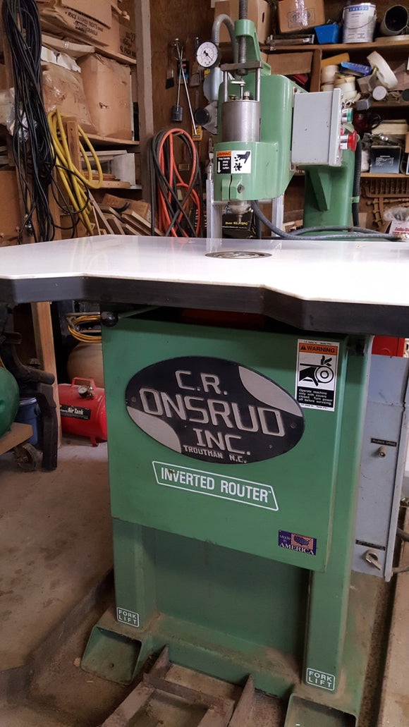 C.R. ONSRUD Inverted Router W/ Air Pump