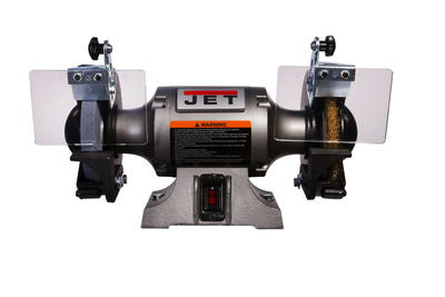 JET JBG-6W Shop Grinder with Grinding Wheel and Wire Wheel