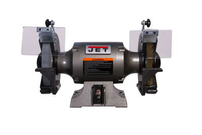JET JBG-8W Shop Grinder with Grinding Wheel and Wire Wheel