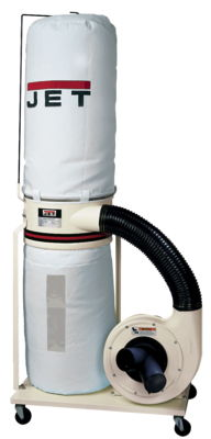 JET DC-1100VX-BK Dust Collector, 1.5HP 1PH 115/230V, 30-Micron Bag Filter Kit