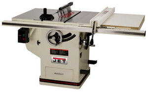 "JET Deluxe Xacta® Saw 5HP, 1Ph, 50"" Rip, with Downdraft Table and Leg Set"