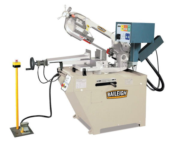 Baileigh - BS-260SA - Dual Mitering Semi-Automatic Metal Cutting Band Saw