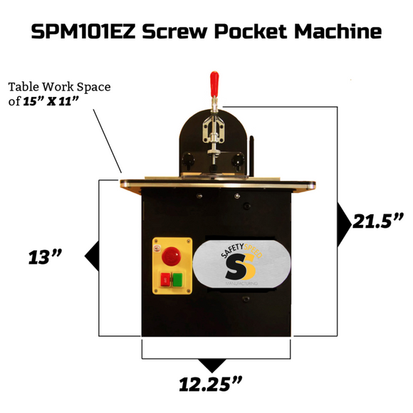 Safety Speed SPM101EZ Screw Pocket Machine