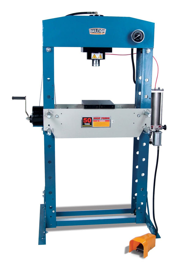 Baileigh - HSP-50A - 50 Ton Air/Hand Operated H-Frame Press