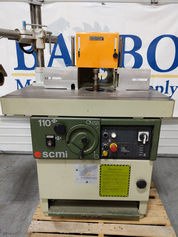SCMI T110 Shaper w/ STEFF 4 Wheel 4 Speed Powerfeeder