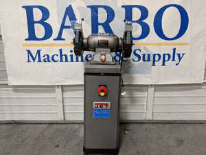 "JET 10"" Bench Grinder w/ Dust Collection Stand"