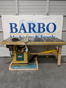 powermatic 66 table saw w 52 fence and overarm gaurd barbo rh barbomachinery com powermatic 66 table saw parts powermatic 66 table saw price