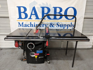 "SAWSTOP PCS31230 Table Saw w/ 36"" Fence Mobile Base and Overarm Dust Collection"