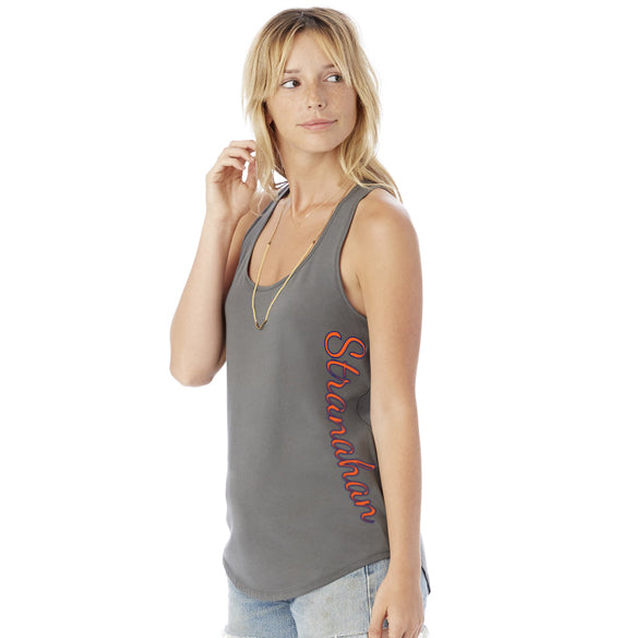 Ladies' Shirttail Satin Jersey Tank