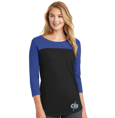 Ladies  Juniors Rally 3/4-Sleeve Tee