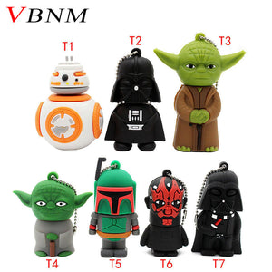 VBNM usb flash drive gifts star wars pen drive 4gb 8gb 16gb Star War Dark Darth Vader drive flash usb pendrive memory stick