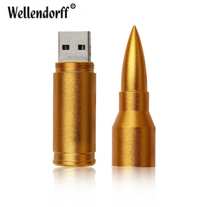 Silver/Gold Metal Bullet usb 2.0 usb flash drive 4gb 8gb 16 gb 32gb 64gb pen drive memory stick pendrive u disk flash drive