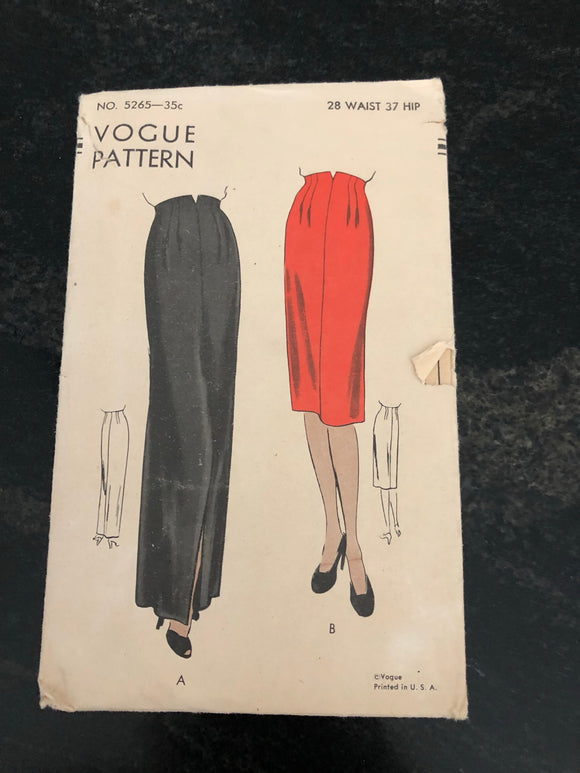 40s Two Length Skirt Vogue 5265