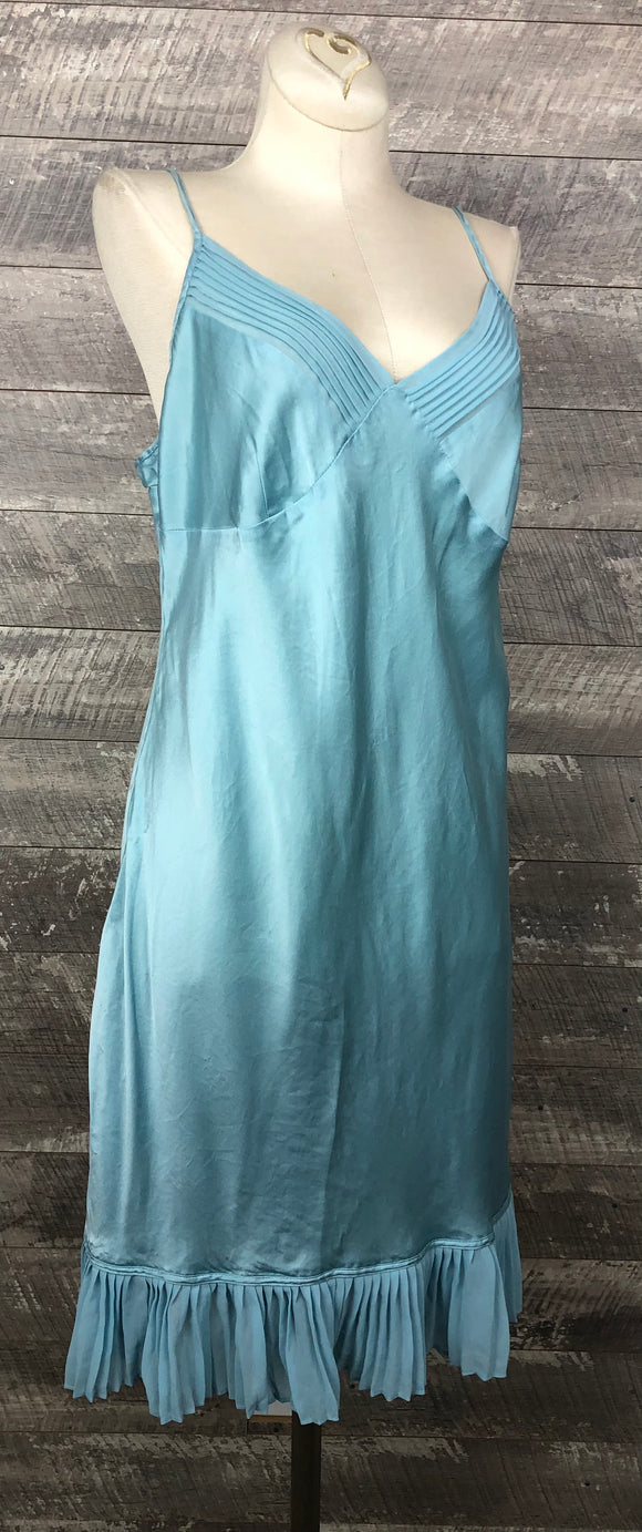 Baby blue Silk Nighty