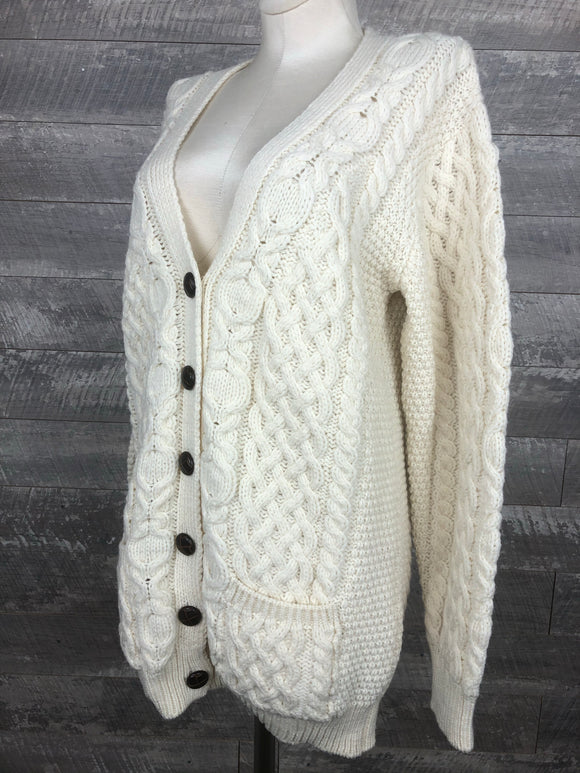 Irish Cable Knit Wool Fishermen's Sweater
